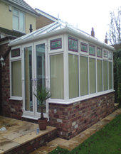 photo of conservatory fitted by Dudley Doors